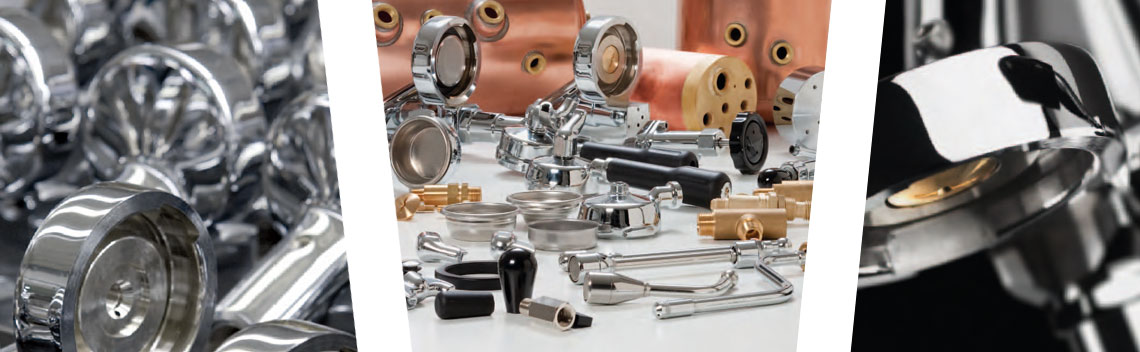 Components for espresso machines